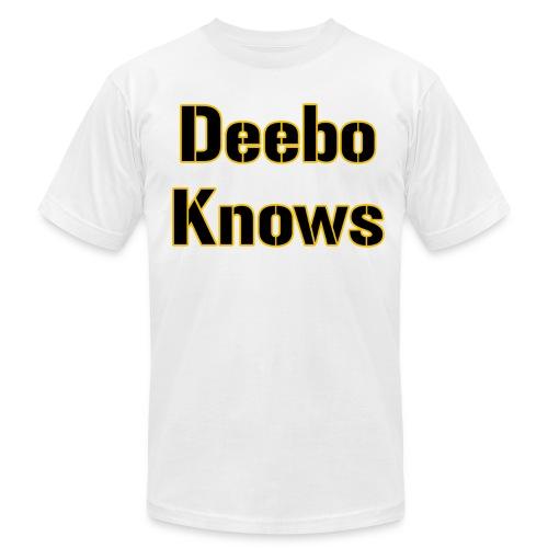 Deebo Knows American - Men's Fine Jersey T-Shirt