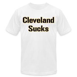 Cleveland Sucks American - Men's Fine Jersey T-Shirt