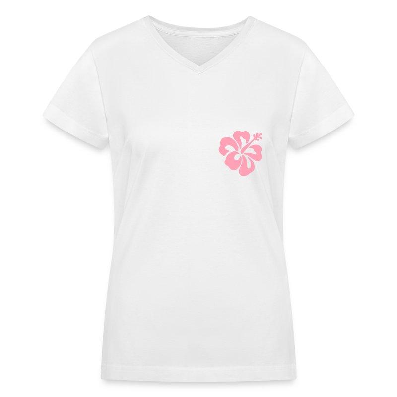 Fleur - Women's V-Neck T-Shirt