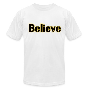 Believe Football Mens American - Men's T-Shirt by American Apparel
