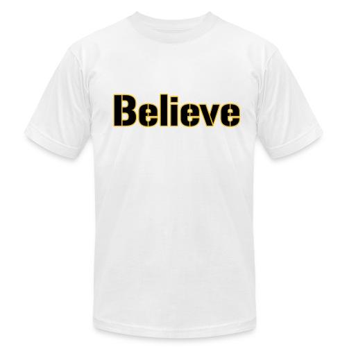 Believe Football Mens American - Men's Fine Jersey T-Shirt