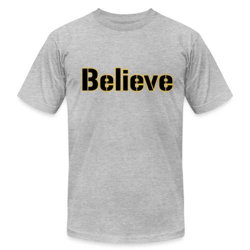 Believe Football Mens American Grey - Men's  Jersey T-Shirt