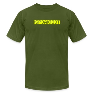 !5P3AKl33T (I Speak Elite) - Men's T-Shirt by American Apparel