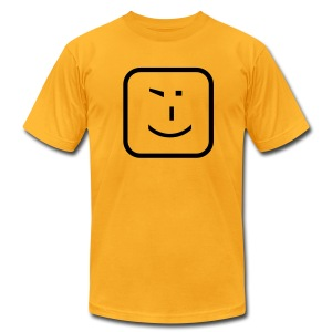 Official Winkey Emoticon T-Shirt - Men's T-Shirt by American Apparel