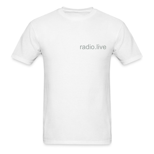 white radio tee - Men's T-Shirt