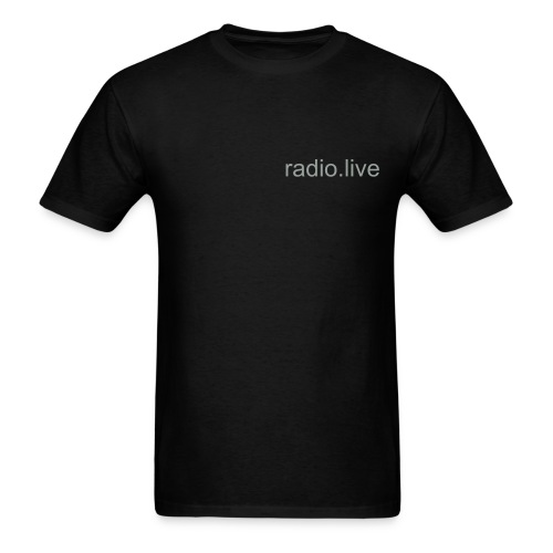 black radio tee - Men's T-Shirt