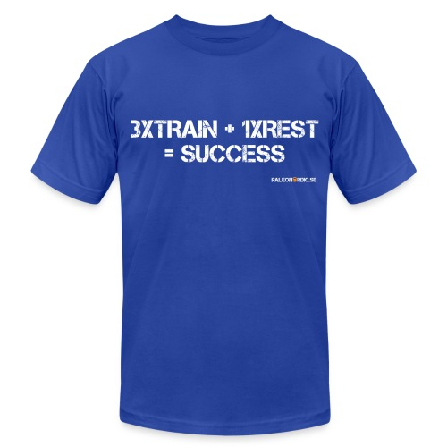 3XTRAIN+1XREST=SUCCESS  - Men's Fine Jersey T-Shirt