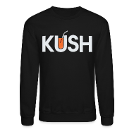 Long Sleeve Shirts ~ Men's Crewneck Sweatshirt ~ Kush Orange Juice Crewneck