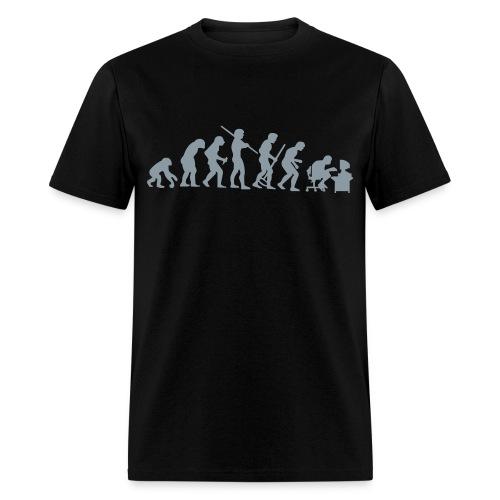 Evolution of a Computer Geek - Men's T-Shirt