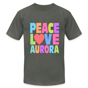 Peace Love Aurora - Men's T-Shirt by American Apparel