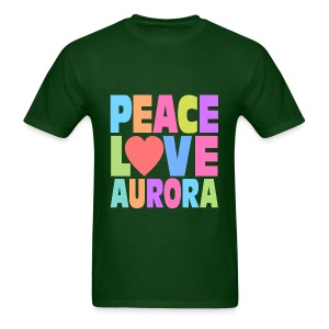 Peace Love Aurora - Men's T-Shirt