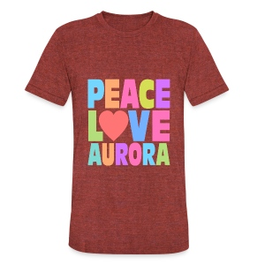 Peace Love Aurora - Unisex Tri-Blend T-Shirt by American Apparel
