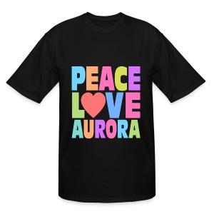 Peace Love Aurora - Men's Tall T-Shirt