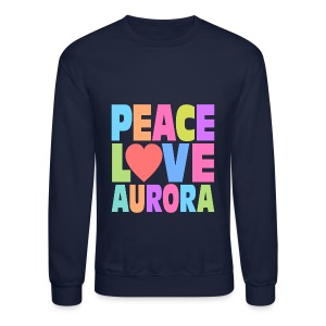 Peace Love Aurora - Crewneck Sweatshirt