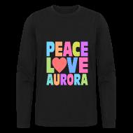 Long Sleeve Shirts ~ Men's Long Sleeve T-Shirt by Next Level ~ Peace Love Aurora