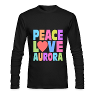 Long Sleeve Shirts ~ Men's Long Sleeve T-Shirt by American Apparel ~ Peace Love Aurora