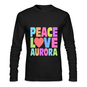 Peace Love Aurora - Men's Long Sleeve T-Shirt by Next Level