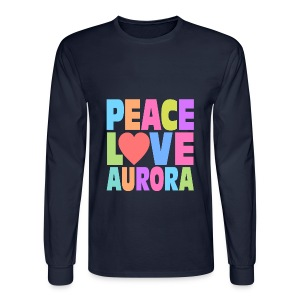 Peace Love Aurora - Men's Long Sleeve T-Shirt