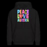 Hoodies ~ Men's Hoodie ~ Peace Love Aurora