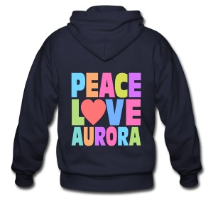 Peace Love Aurora - Men's Zip Hoodie