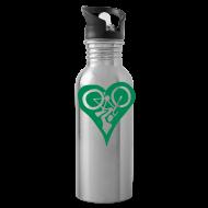 Sportswear ~ Water Bottle ~ Green Bike Love Water Bottle