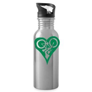 Green Bike Love Water Bottle - Water Bottle