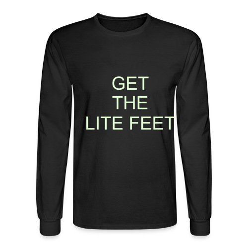 GET THE LITE FEET (GLOW IN THE DARK) - Men's Long Sleeve T-Shirt