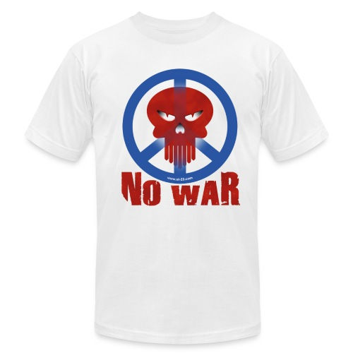 no war skull t-shirt - Men's Fine Jersey T-Shirt