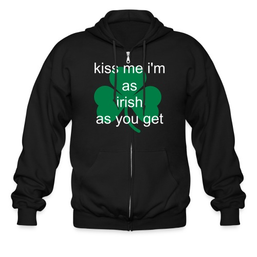 Men's Zip Hoodie - perfect for the irishman still trying to be cool (or irish girl.) Put a cool spin on irish this year.