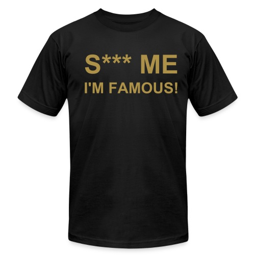 S*** ME Black-Gold - Men's Fine Jersey T-Shirt