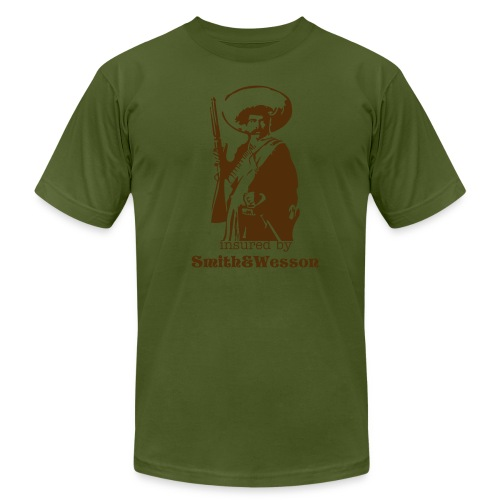 insured by Smith&Wesson - Men's Fine Jersey T-Shirt