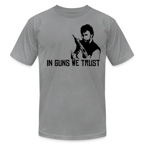 in guns we trust - Men's Fine Jersey T-Shirt