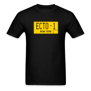 Black ECTO-1 Plate T-Shirts