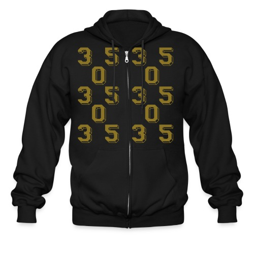 Gold 305 *NEW NEW NEW!!! (check out the back!) - Men's Zip Hoodie