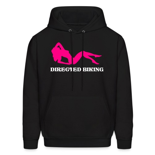hooded sweatshirt with pink and white designs - Men's Hoodie