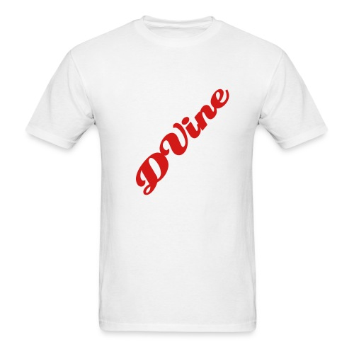 DVine White and Red - Men's T-Shirt