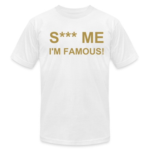 S*** ME White-Gold - Men's Fine Jersey T-Shirt