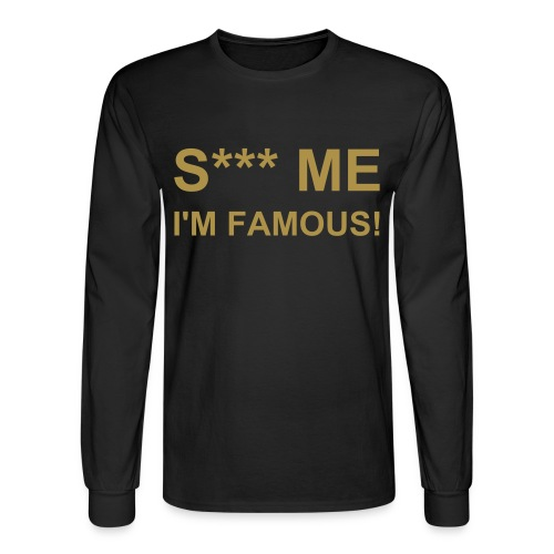 S*** ME Black-Gold - Men's Long Sleeve T-Shirt