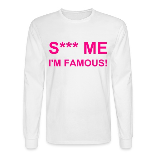 S*** ME White-Pink - Men's Long Sleeve T-Shirt