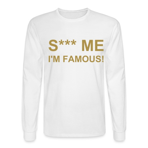 S*** ME White-Gold - Men's Long Sleeve T-Shirt