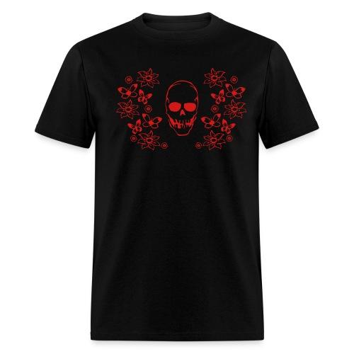 Skull and Butterflies - Men's T-Shirt