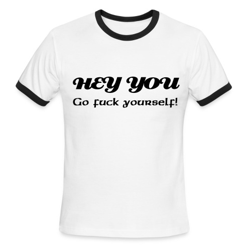 Hey you - Men's Ringer T-Shirt
