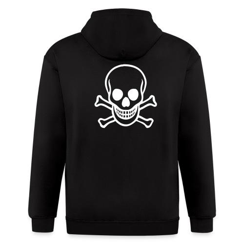 Men's Zip Hoodie - skull
