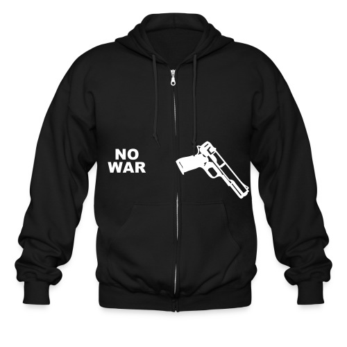 Men's Zip Hoodie - war and peace
