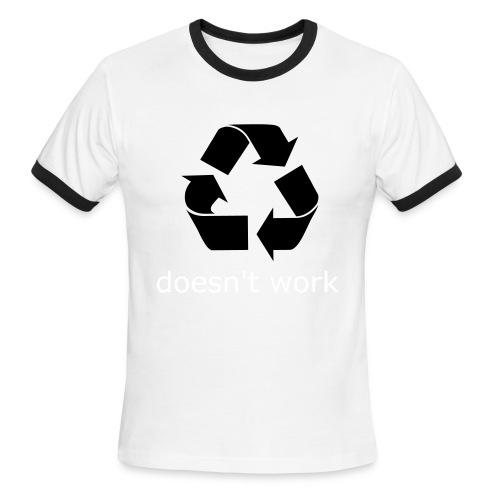 Recycling - Men's Ringer T-Shirt
