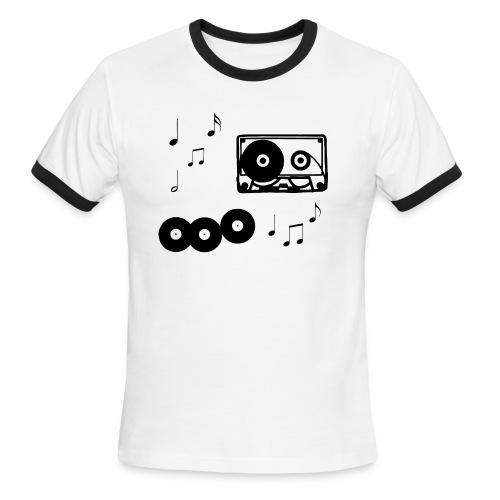 Men's Music Cloud - Men's Ringer T-Shirt