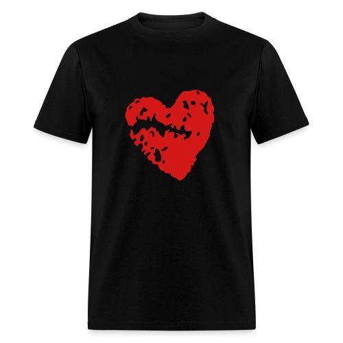 Broken Heart Tee - Black - Men's T-Shirt