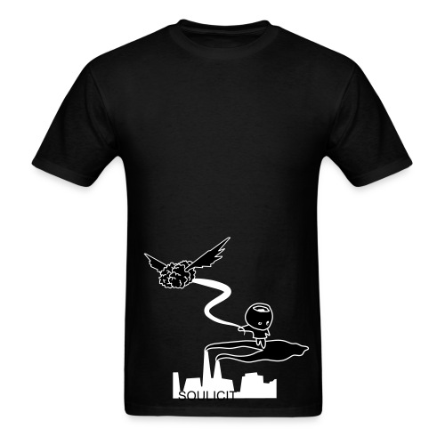 Flying Brain Black - Men's T-Shirt