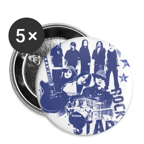 Punk Effect Pins - Buttons large 2.2'' (5-pack)