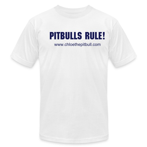Pitbulls Rule! - Men's Fine Jersey T-Shirt